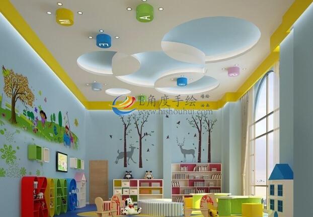 儿童乐园设计,儿童乐园墙绘彩绘,游乐场彩绘