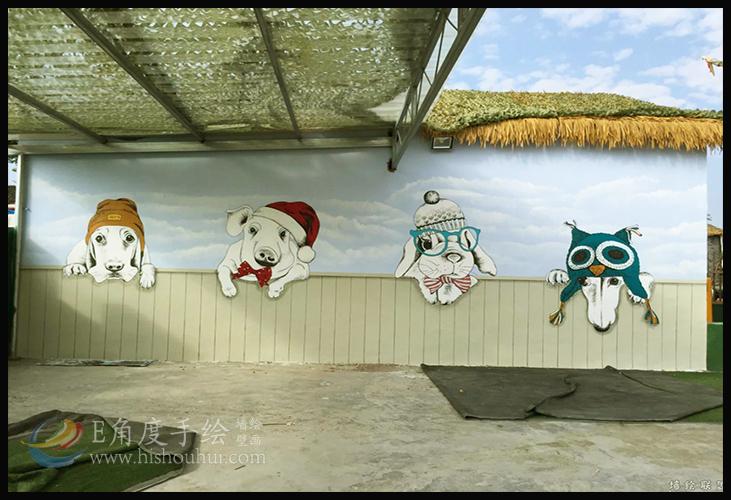 [儿童乐园彩绘]儿童乐园手绘墙壁画,墙体彩绘
